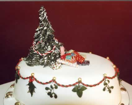 Christmas Cedding Cake